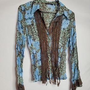 2/$50   Violet et Clare multicolor blouse